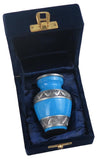 Miniature Blue and Silver Keepsake Urn - ETM10