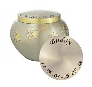 Personalised Golden Paws Odyssey Urn - ETP09