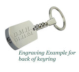 Personalised Cross Urn Keyring - ETK18