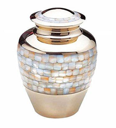 Large Mother of Pearl Urn - ETL02
