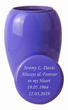 Large Classic Purple Urn with Optional Personalised Engraving - ETL03