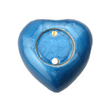 Royal Blue Enamel Heart Keepsake Urn - ETH26