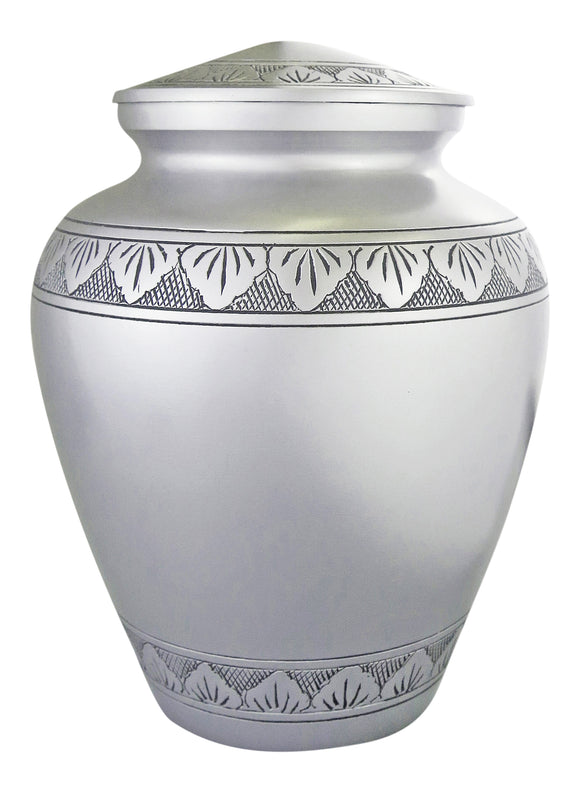 Large Silver & Black Pattern Urn - ETL12
