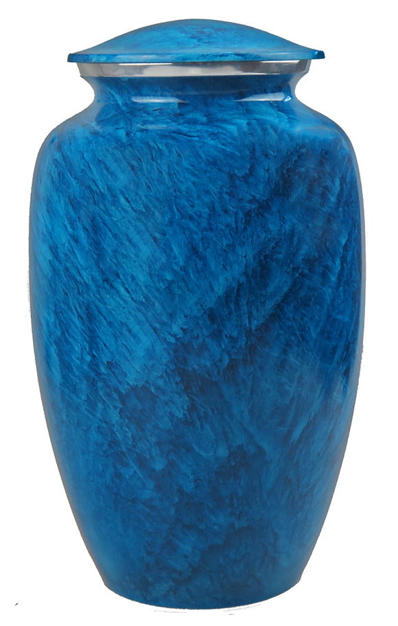 Large Blue Marble Effect Urn - ETL17