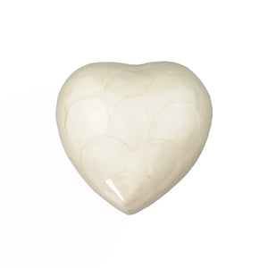 White Enamel Heart Keepsake Urn - ETH29