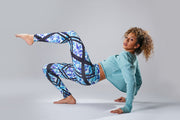 Palmy Breeze Tropical Print Leggings