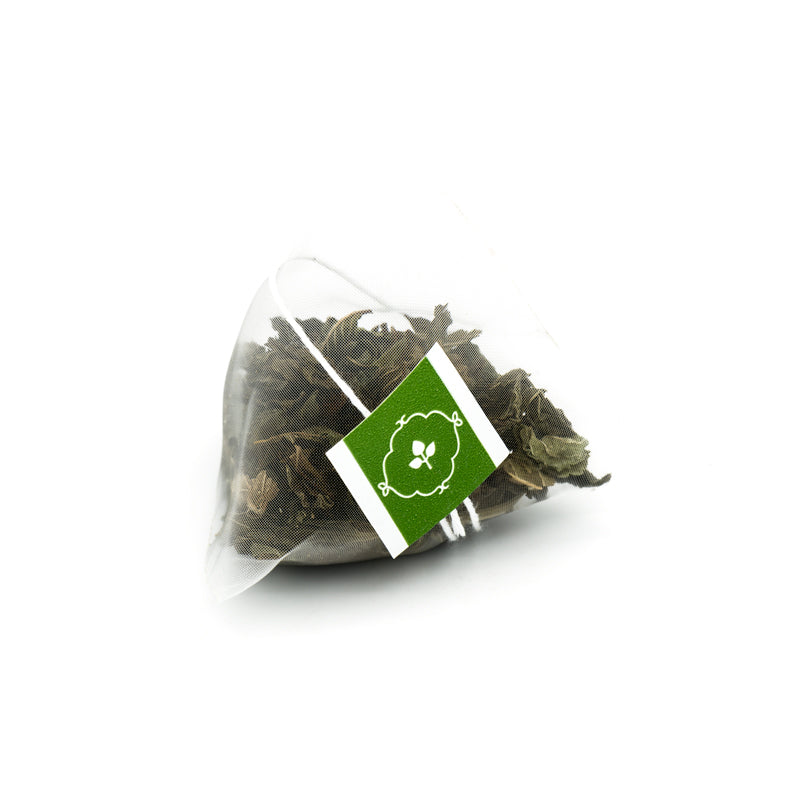 Peppermint Leaf - Herbal - Pyramid Tea Bags Foil Pouch, 25pc