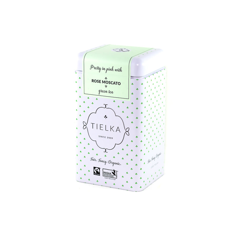 Rose Moscato - Green Tea - Pyramid Tea Bags Tin