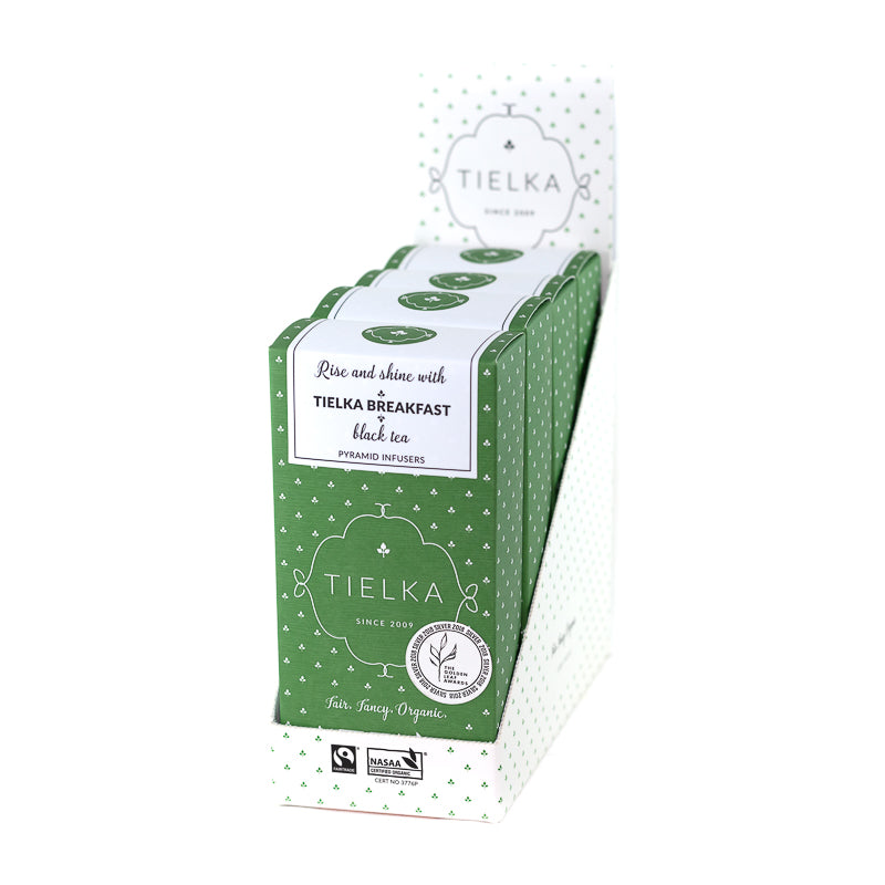 Tielka Breakfast - Black Tea - Pyramid Infusers Boxes