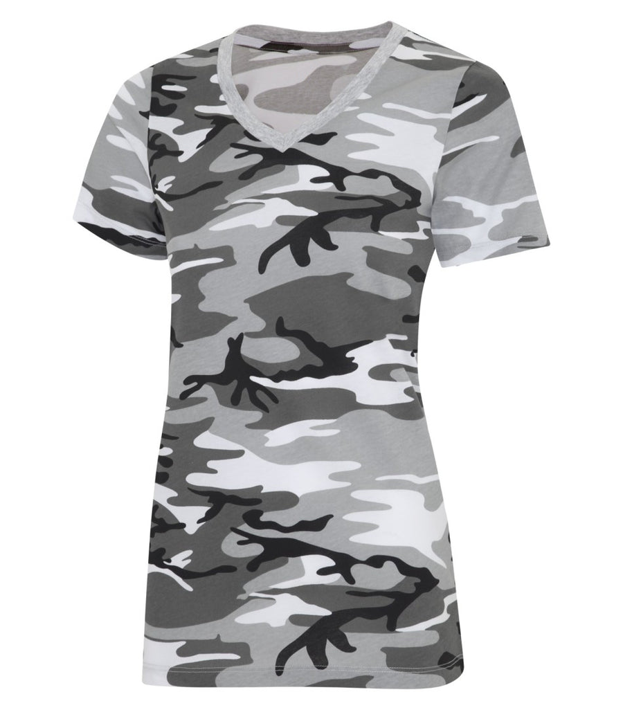 Shadow Tee - V Neck Camo