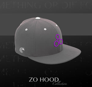 ZH Flat Brim - Grey Purple