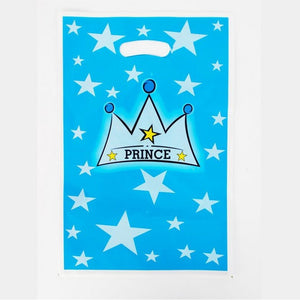 90 Pcs Boys Blue Prince Crown Cartoon Theme Tableware Set for Kids Children Boys Wedding Birthday Party Decoration For 6 People