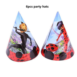 Cartoon Miraculous Ladybug Girls Theme Party Decorations For Kids Birthday Baby Shower Festive Event Party Supplies