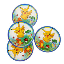Load image into Gallery viewer, Suitable For 20 People Kids Birthday Party 1Set Party Paper Pikachu Pokemon Go Decorative Paper