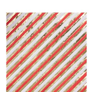 Merry & Bright Foiled Striped Paper Napkins - 33cm