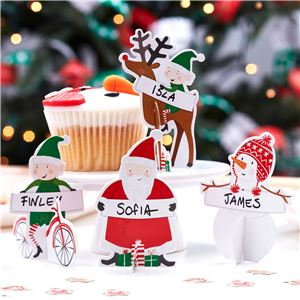 Santa and Friends 3D Place Cards