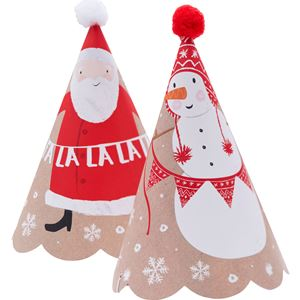 Santa and Friends Party Hats