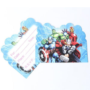 The Avengers Theme Cartoon Party Set Balloon Tableware Plate Napkins Banner Birthday Candy Box Baby Shower Party Decoration