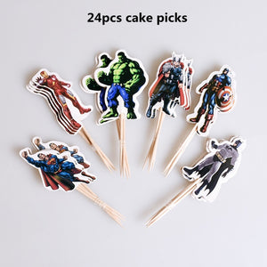 The Avengers Superhero Theme Party Decorations For Kids Birthday Festive Event Party Supplies