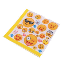 Load image into Gallery viewer, 24 Pcs Baby Shower Party Decoration Emoji Theme Cartoon Party Set Balloon Tableware Plate Napkins Banner Birthday