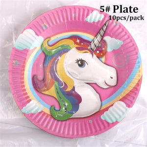 Kids Unicorn Theme Birthday Party Supplies Favor Tableware Decor Gift Candy Box Festival Children Home Dinner Ornament