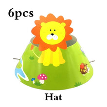 Load image into Gallery viewer, Kid Birthday Party Supplie Tableware Baby Shower Jungle Animals Theme Cartoon Disposable Cute