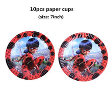 Load image into Gallery viewer, Cartoon Miraculous Ladybug Girls Theme Party Decorations For Kids Birthday Baby Shower Festive Event Party Supplies