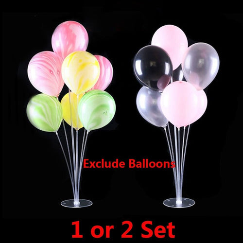 1/2Sets other Balloon Column Base Plastic Balloons Stand 70cm Wedding Decor Birthday Party Valentines Day Supplies Child's Gift