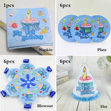 Load image into Gallery viewer, Happy Baby Shower 1st Birthday Party Decor Straws Plates Cups Disposable Tableware Fashion Kids Theme