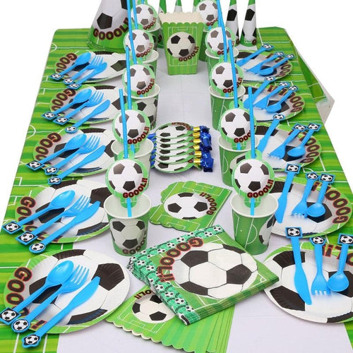 97Pcs Football Soccer Theme Party Decorations For Kids Birthday Party Event Festive