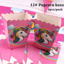 Load image into Gallery viewer, Kids Unicorn Theme Birthday Party Supplies Favor Tableware Decor Gift Candy Box Festival Children Home Dinner Ornament
