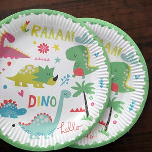 Cartoon Dinosaur Theme Party Decorations For Kids Birthday Party Favors Baby Shower Festive Party Supplies
