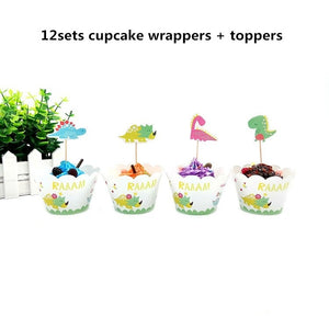 Cartoon Dinosaur Party Decorations For Kids Favors Birthday Party Baby Shower Festive Party Supplies