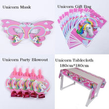 Load image into Gallery viewer, Unicorn Theme Party Decoration Happy Birthday Party Supplies