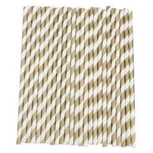 25Pcs Disposable Paper Straws Stripe Drinking Straws for Party Birthday Wedding Decoration New Year Party Supplies