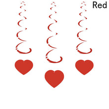 Load image into Gallery viewer, 6pcs/pack Party Decoration Love Heart Curtain Romantic Valentine Hearts Ornaments For Home Wedding