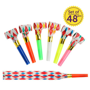 Noise Party Blowers | 48pcs Party Noisemakers for New Years Birthday Party