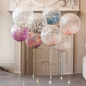 "5 pieces of 12 ""balloons in five color balloons and a lot of clear party wedding children's birthday party stuff balloon toys"