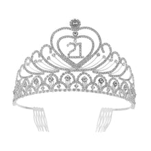 Load image into Gallery viewer, Birthday Party Rhinestone Crystal Tiara Crown
