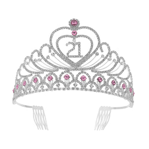 Birthday Party Rhinestone Crystal Tiara Crown