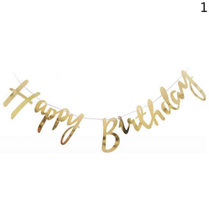 Happy Birthday Banner Banner Party Decoration Garland Birthday Sign Baby Shower Birthday Party Decoration