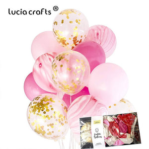 "20PCS 12"" Multi Colorful Confetti Air Balloons DIY Birthday Wedding Christmas Party Decorations Festival Supplies 059003033"
