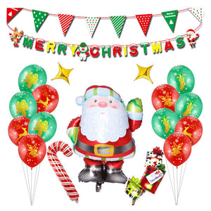 Assorted Santa Clause Ballon Set for Christmas Party Decoration