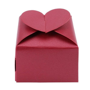 20pcs/Set Classic Heart Square Paper Candy chocolate Box Wedding Festival Birthday Party Gift Wrapping Packing Decor Case E5M1