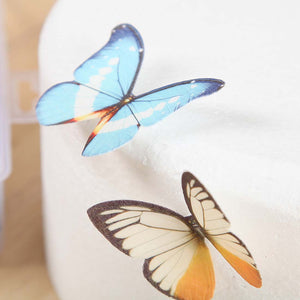 20pcs Mixed Butterfly Edible Glutinous Wafer Rice Paper Cake Cupcake Toppers For Cake Decoration Birthday Wedding