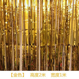 Rain Curtain Christmas Party In Decorative Curtain Set Ribbon Film