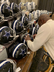 Emmitt Smith, Michael Irvin and Troy Aikman signed helmet