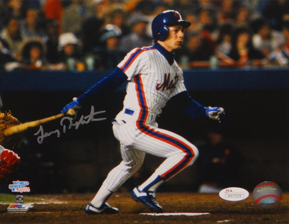 Lenny Dykstra Autographed New York Mets 8x10 Swinging Photo- JSA W Auth