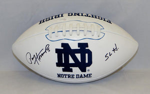 Paul Hornung Autographed Notre Dame Fighting Irish Logo Football- JSA W Auth