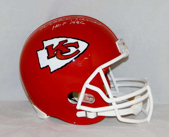 Willie Lanier Autographed Kansas City Chiefs Full Size Helmet W/ HOF- JSA W Auth